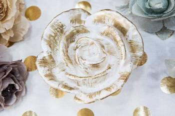 White Gold Τριαντάφυλλο (Medium) 9x15x6cm