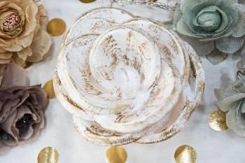 White Gold Τριαντάφυλλο (Medium) 14x16cm