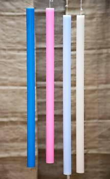 Λαμπάδα βάπτισης  χρωματιστή μασίφ  70cm