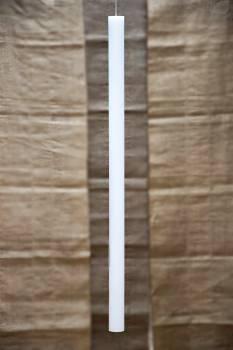 Λαμπάδα βάπτισης λευκή μασίφ 70cm