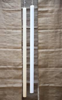 Λαμπάδα βάπτισης οβάλ σαγρέ μασίφ 70cm