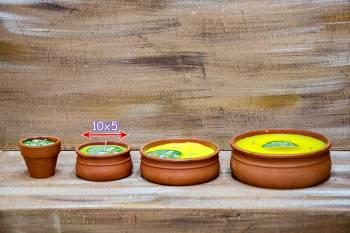 Πήλινο μικρό 10*5 αντικουνουπικό κερί με citronella