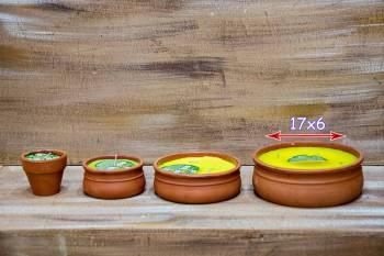 Πήλινο γίγας 17*6 αντικουνουπικό κερί με citronella