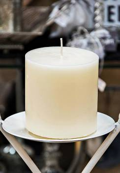 Κερί γάμου για κηροστάτη εκρού 10X10cm