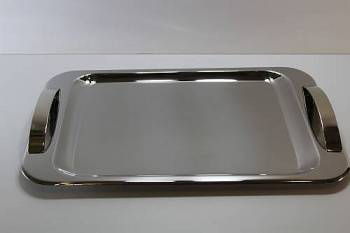 1291 serving tray - INOX 18-C  28 x 43 cm