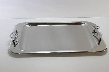 1937 serving tray - INOX 18/C 28 x 43 cm