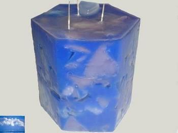 Κερί εξάγωνο με κομμάτια και άρωμα φρέσκος αέρας