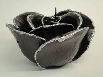 Τριαντάφυλλο μαύρο- ασημί medium