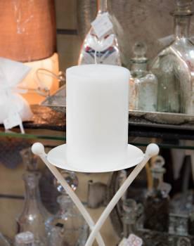 Κερί γάμου για κηροστάτη λευκό 10X15cm