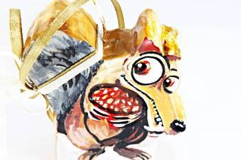 Κέρινο σκιουράκι - βελανίδι 7*6 cm