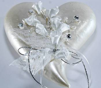 heart tail silver - white with 0520038 decor