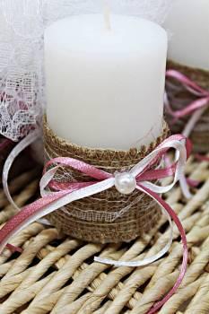 Κερί λευκό 4.50x8cm