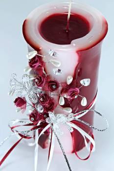 Τυλιχτό 8χ20 cm στολ. πεταλ. & λουλ. - μπορντό με άρωμα τριαντ.