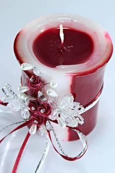 Τυλιχτό 8χ10 cm στολ. πεταλ. & λουλ. - μπορντό με άρωμα τριαντ.