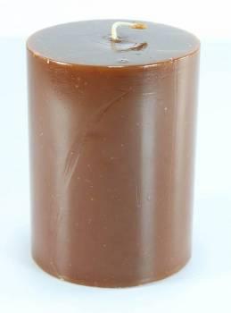 Γυαλιστερό καφέ κερί με άρωμα κανέλα 8x10cm