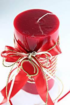 8*15 κόκκινο glossy αρωματικό με χρυσό - κόκκινο ρόδι 0924