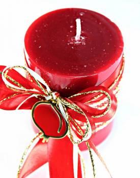 8*10 κόκκινο glossy αρωματικό με χρυσό - κόκκινο ρόδι 0924
