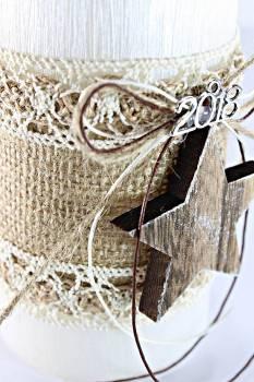 8*10 λευκό σαγρέ με ξύλινο αστεράκι Π