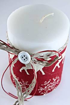 8*10 λευκό με μπορντό - σχέδιο ύφασμα
