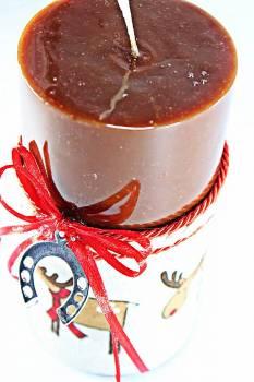 8*15 καφέ glossy αρωματικό με ασημί πεταλάκι