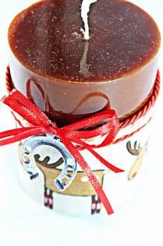 8*10 καφέ glossy αρωματικό με ασημί πεταλάκι