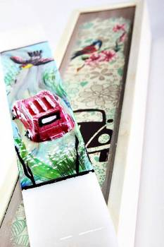 18Χ058 Αμάξι - πουλί σετ με ξύλινο κουτί