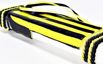 Πασχαλινή λαμπάδα 18Χ061 Κίτρινο - μαύρο φανέλα 25x4x2cm