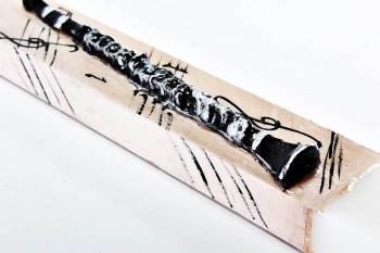 Πασχαλινή λαμπάδα 18Χ069 Κλαρίνο 25x4x2cm