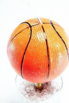 Πασχαλινή λαμπάδα Μπάλα μπάσκετ μεγάλη 8x8cm