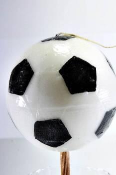Πασχαλινή λαμπάδα Μπάλα ποδοσφαίρου μεγάλη 8x8cm