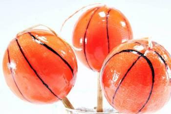 Πασχαλινή λαμπάδα Μπάλα μπάσκετ μικρή 4.5x4.5cm