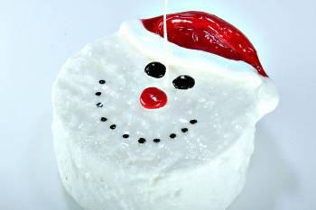 Χιονάνθρωπος καθιστό πρόσωπο 12*5