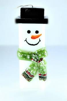 Χιονάνθρωπος BIG τετράγωνος με κασκόλ 25*7.5