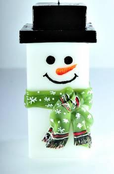 Χιονάνθρωπος MED τετράγωνος με κασκόλ 20*7.5