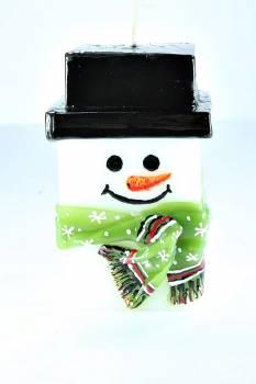 Χιονάνθρωπος SM τετράγωνος με κασκόλ 15*7.5