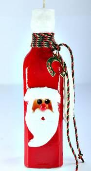 22*6 Μπουκάλι Άγιος Βασίλης ορθογώνιο στολισμένο