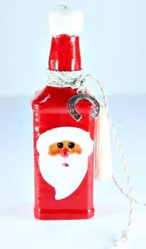 20*6 Μπουκάλι Άγιος Βασίλης τετράγωνο στολισμένο