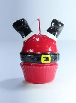 Cup Cake Άγιος Βασίλης ανάποδα κόκκινο Sm 9*8