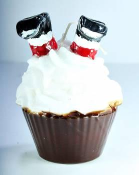 Cup Cake Άγιος Βασίλης ανάποδα σαντιγύ Big 11*10