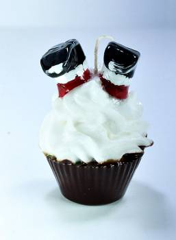 Cup Cake Άγιος Βασίλης ανάποδα σαντιγύ Sm 9*8