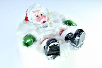 Τούρτα 12εκ Άγιος Βασίλης ξαπλωμένος
