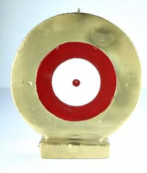 Μάτι στρόγγυλο χρυσό - κόκκινο  Big 18*16*4.5