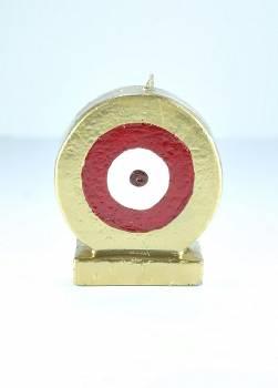 Μάτι στρόγγυλο χρυσό - κόκκινο Sm 11*7*4