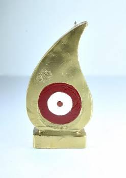 Μάτι δάκρυ χρυσό - κόκκινο Med 16*9*3.5