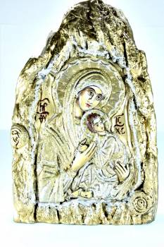 Χειροποίητη Αγιογραφία Παναγία και Χριστός