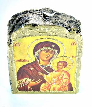 Εικόνα σε κερί Medium Παναγία και Χριστός