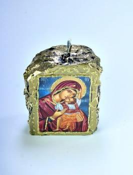 Εικόνα σε κερί Small Παναγία και Χριστός