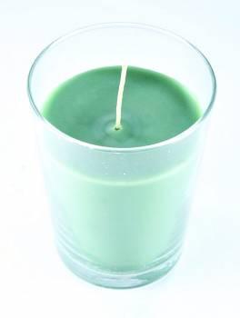 Αντικαπνικό κερί σε γυάλινο ποτήρι 9*12