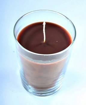 Αρωματικό κερί κανέλα σε ποτήρι μεγάλο 12*9