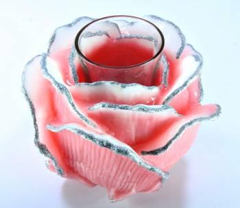 Τριαντάφυλλο με ποτήρι ρεσώ 12x14cm (Medium) - Σάπιο Μήλο